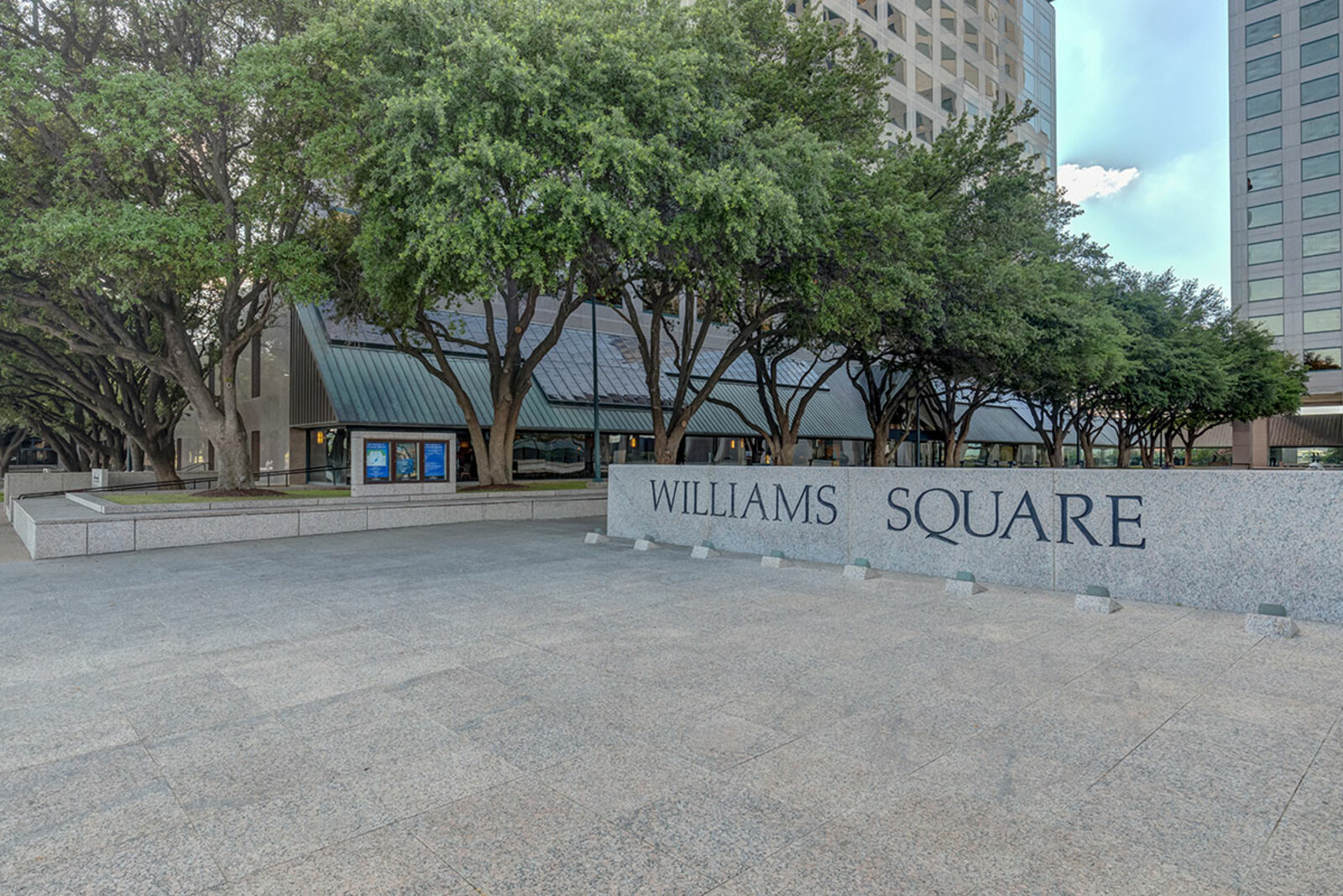 Located in the west tower of Williams Square Towers